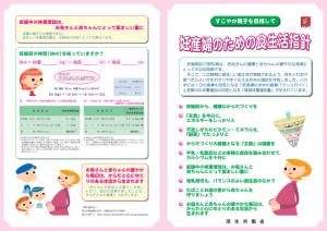 妊産婦のための食生活指針パンフレット表面
